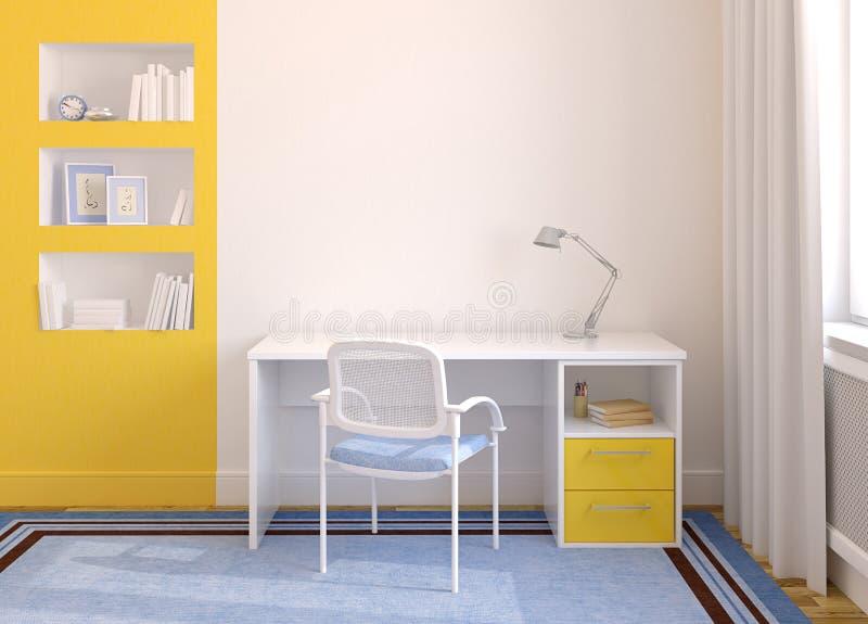 Home office interior. vector illustration