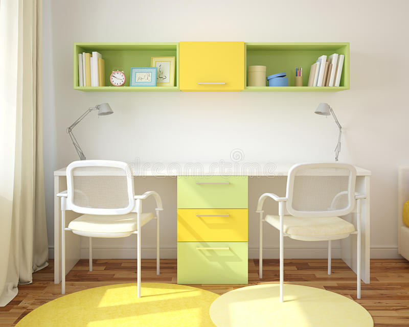 Home office interior. royalty free illustration