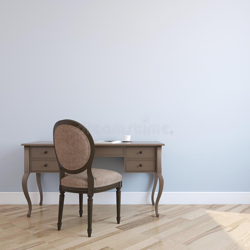 Free Home Office Interior. 3d Rendering. Royalty Free Stock Photography - 66315997