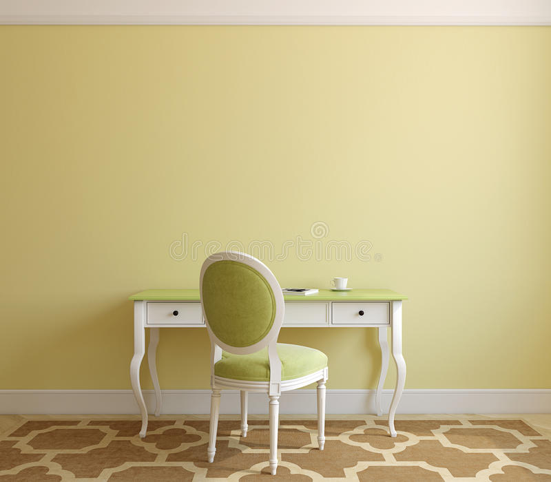 Download Home office interior. stock illustration. Illustration of modern - 33721087