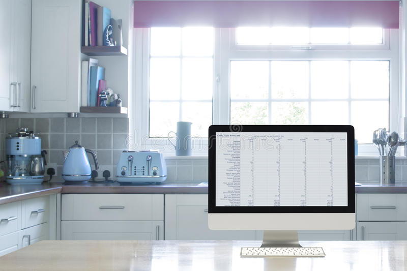Home office interior set up stock photography