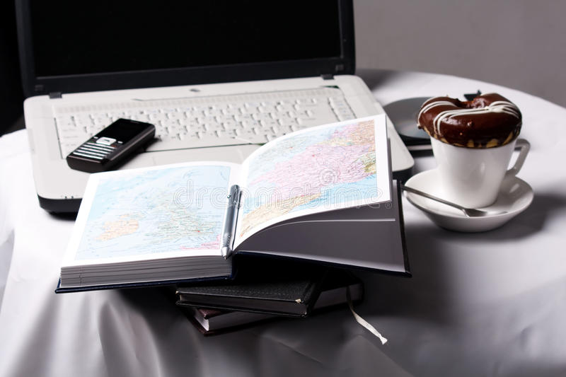 Home office setup royalty free stock image