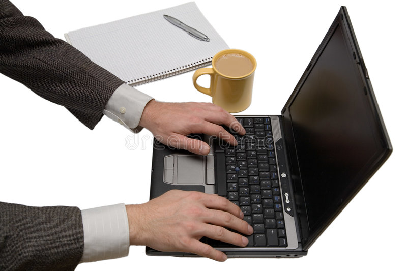 Download Home office setup stock photo. Image of coffee, information - 636402