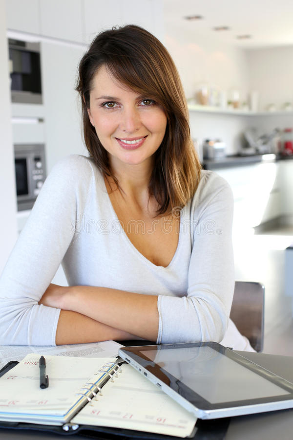 Home-office worker woman stock images