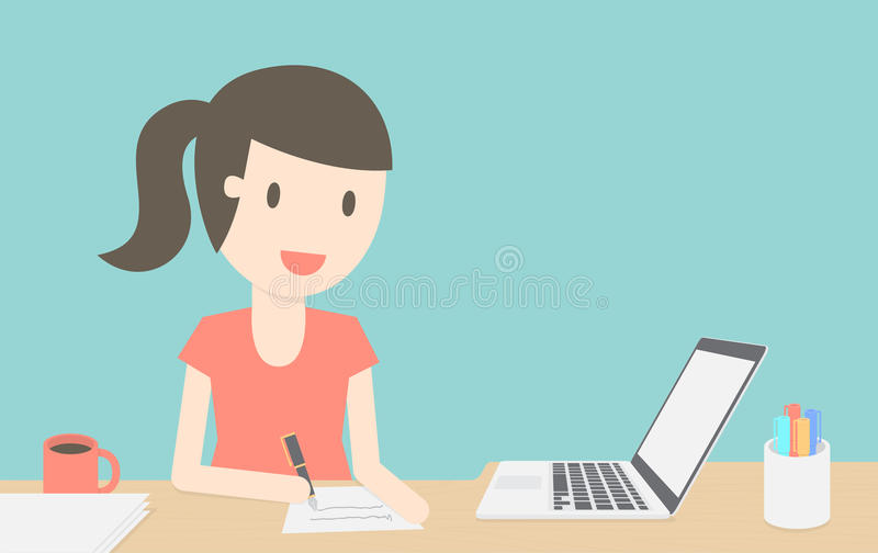 Home office royalty free illustration
