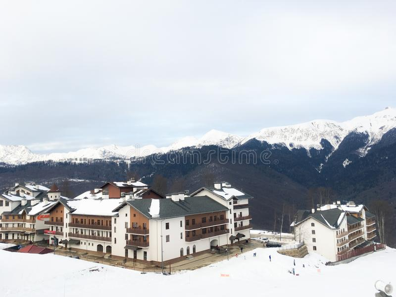 Home of the Olympic village in the Caucasian mountains of the city of Sochi. 1 stock photography