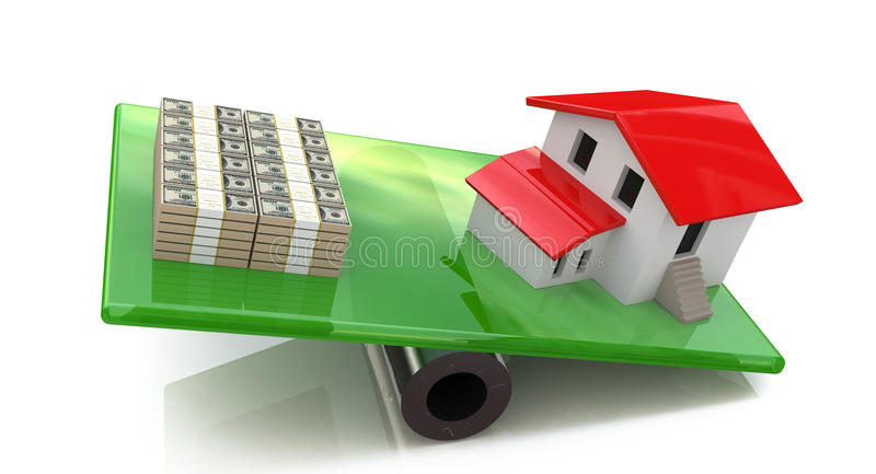 Home outweighs the money stock images