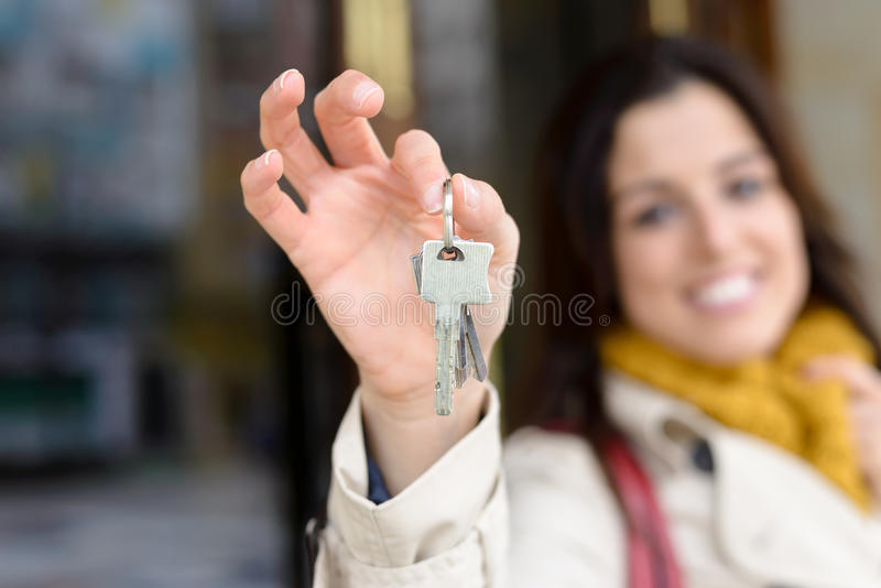 Home owner keys royalty free stock image