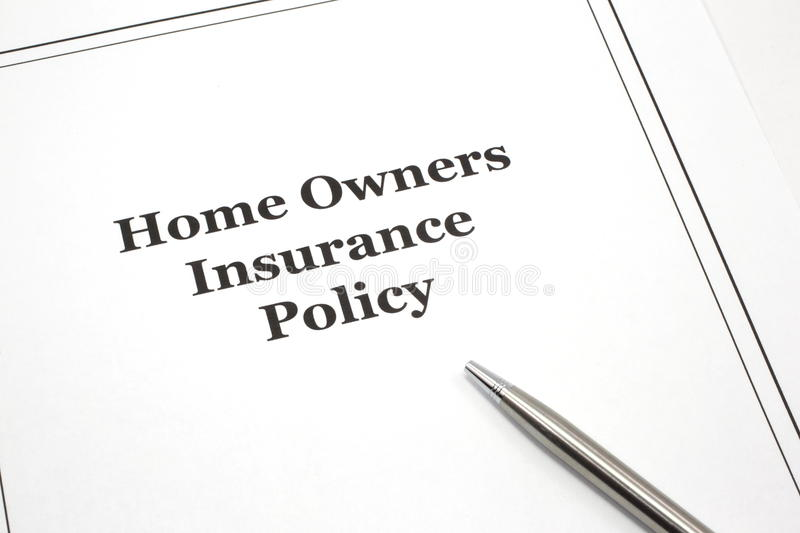 Download Home Owners Insurance Policy With A Pen Stock Image - Image: 13786639
