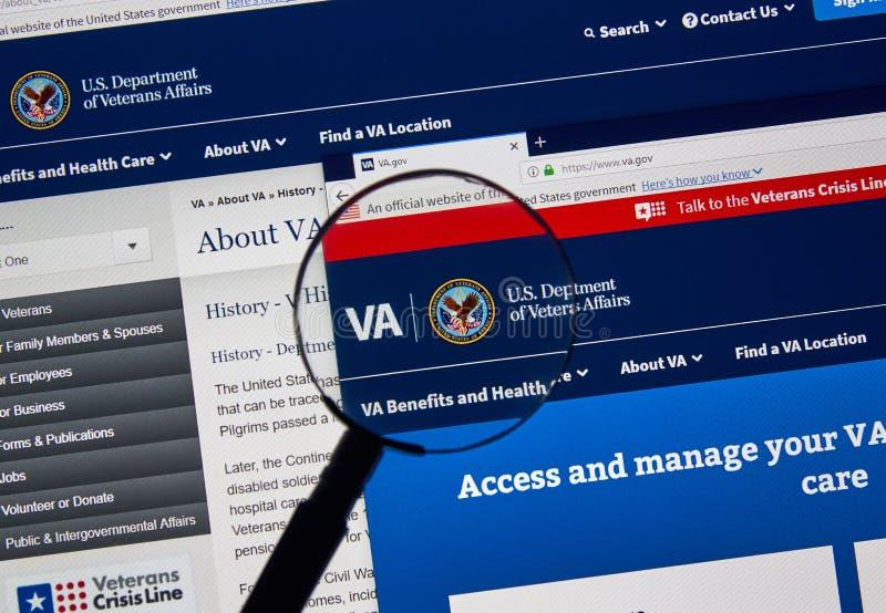 Home Page do governo dos EUA fotografia de stock