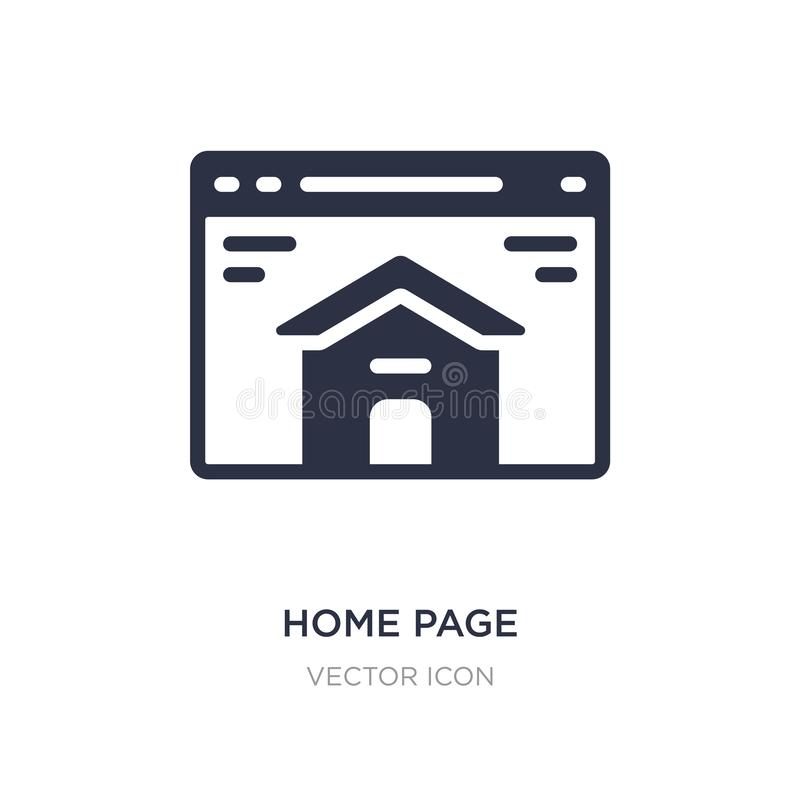 Home page icon on white background. Simple element illustration from Search engine optimization concept. Home page sign icon symbol design vector illustration