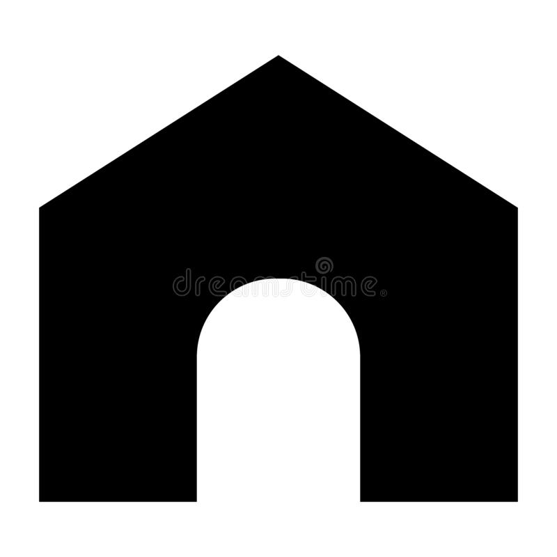 Home page solid icon. House illustration isolated on white. Main page glyph style design, designed for web and app. Eps. 10 vector illustration