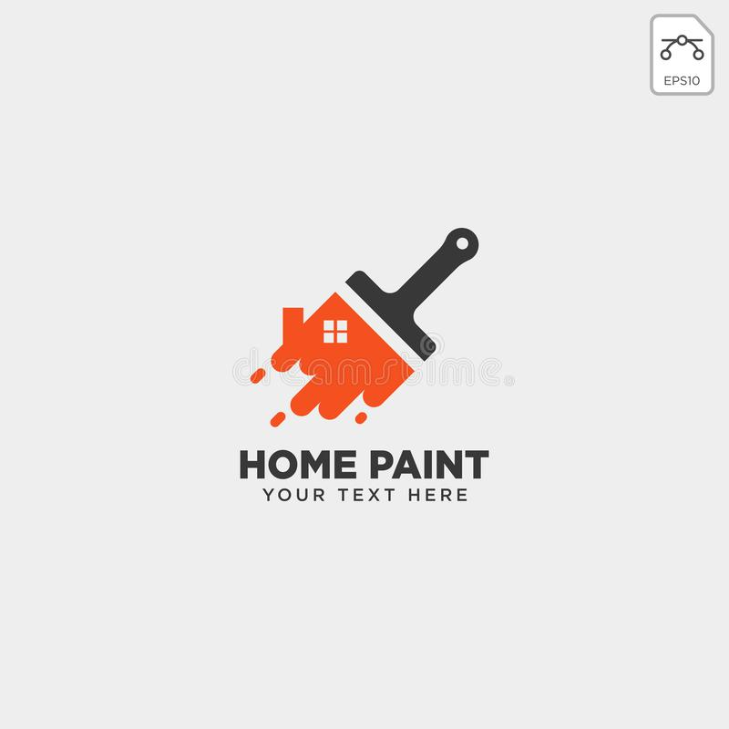 Home paint brush colorful logo template vector icon element. Vector stock illustration