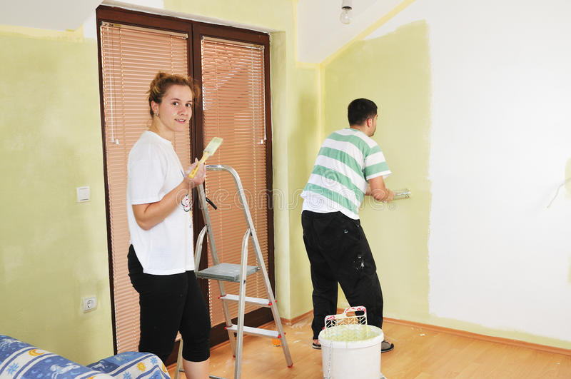 Home painting royalty free stock photos