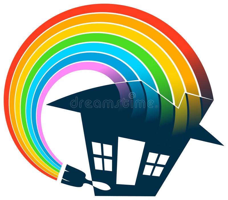 Home painting logo vector illustration