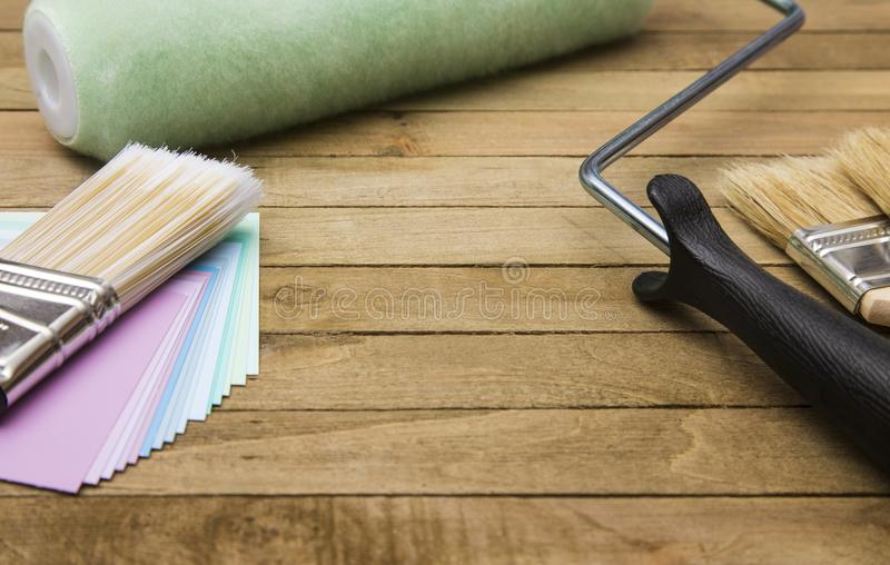 Home Painting Project. Themed Background royalty free stock photography