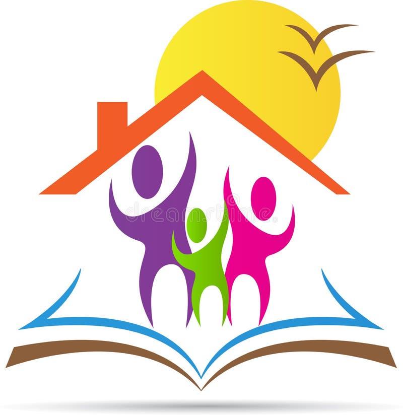 HOME para a educação ilustração stock