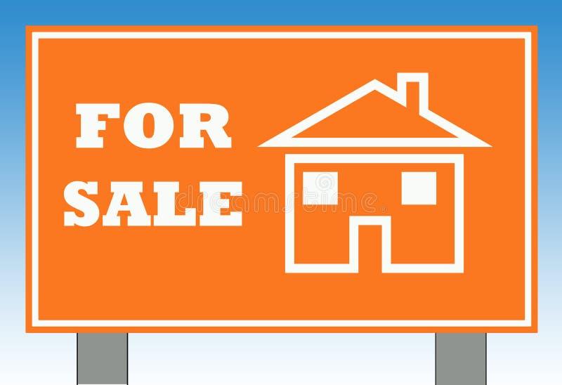 HOME para o sinal da venda ilustração do vetor