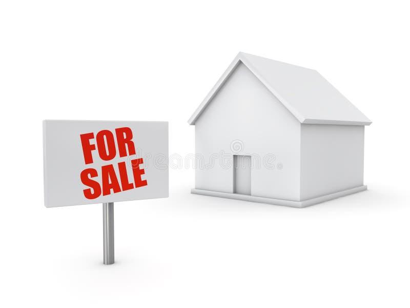 HOME para a venda ilustração royalty free