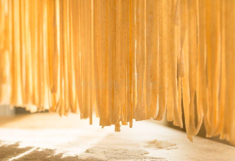 Home pasta making, italian traditional food. stock photos