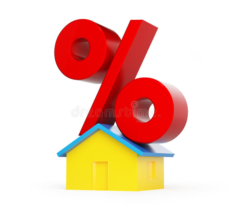 Download Home percent stock illustration. Image of housing, blue - 26924158