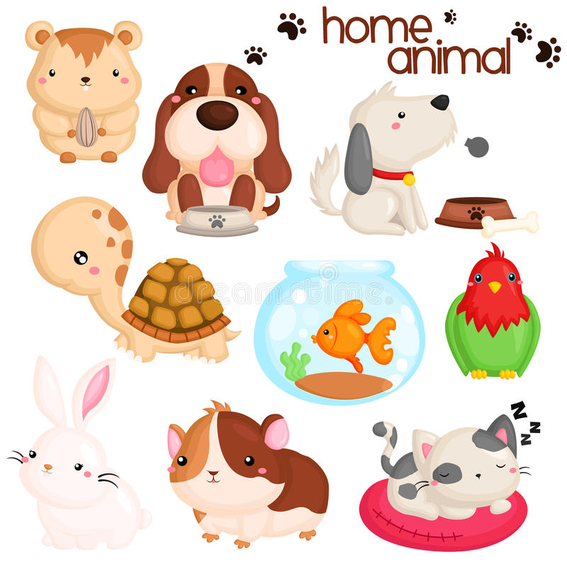 Home pet royalty free illustration