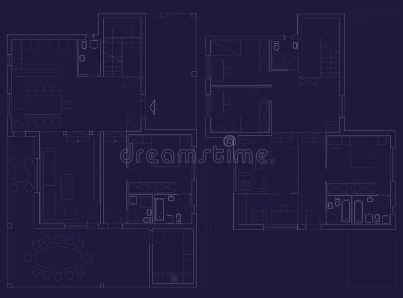 Home plan stock photo