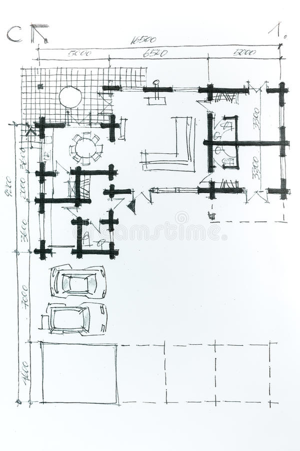 Home  plan  drawing  stock illustration Illustration of