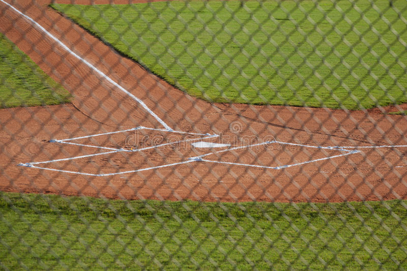 Home Plate on a Baseball Field royalty free stock photos