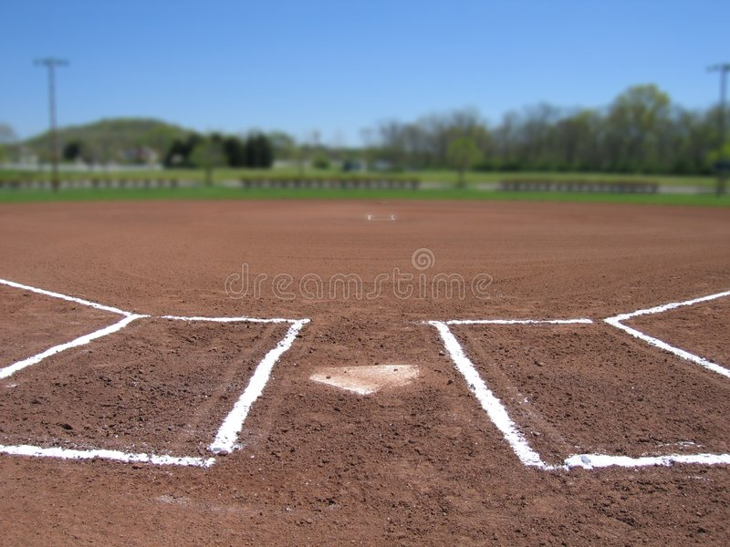 Home Plate & Batter S Box Royalty Free Stock Photos