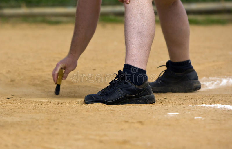 Home Plate Umpire royalty free stock photos