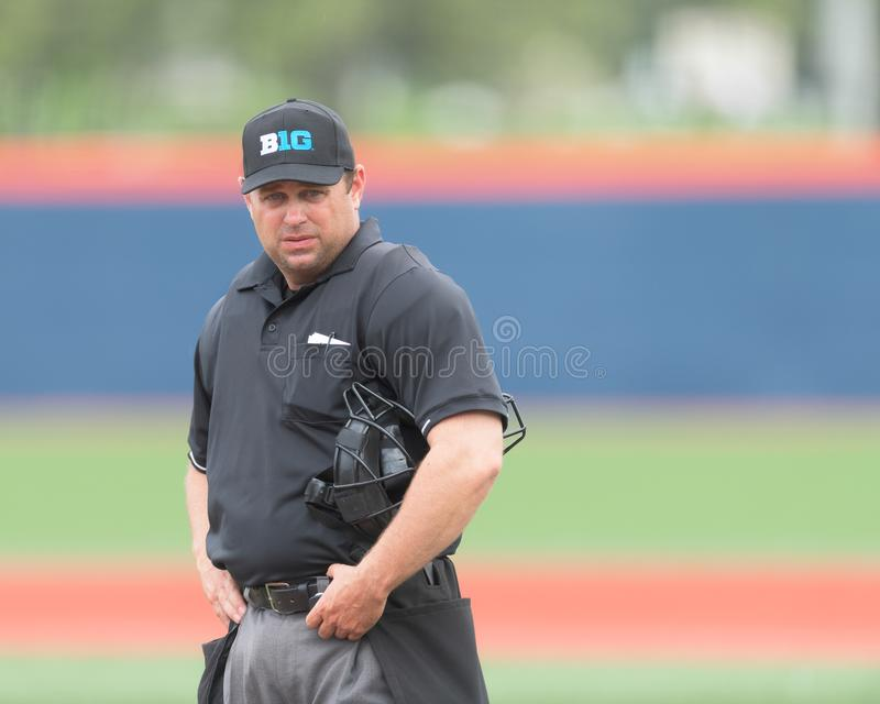 Home plate umpire royalty free stock image