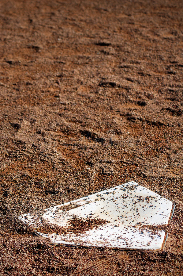 Home Plate - Vertical stock image