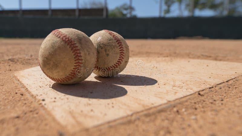 home platta för baseball fotografering för bildbyråer