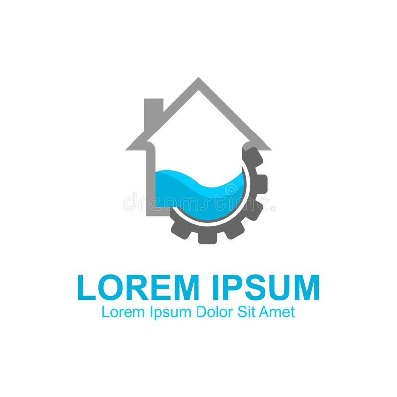 Home Plumbing Logo. Template, Can be used for personal and Corporate Business stock illustration