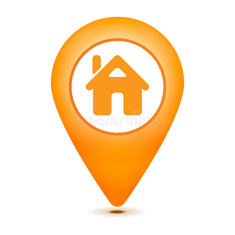 Home pointer icon. On a white background