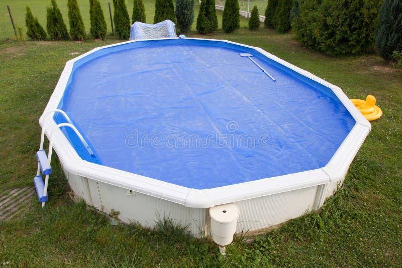 Home pool stock photography