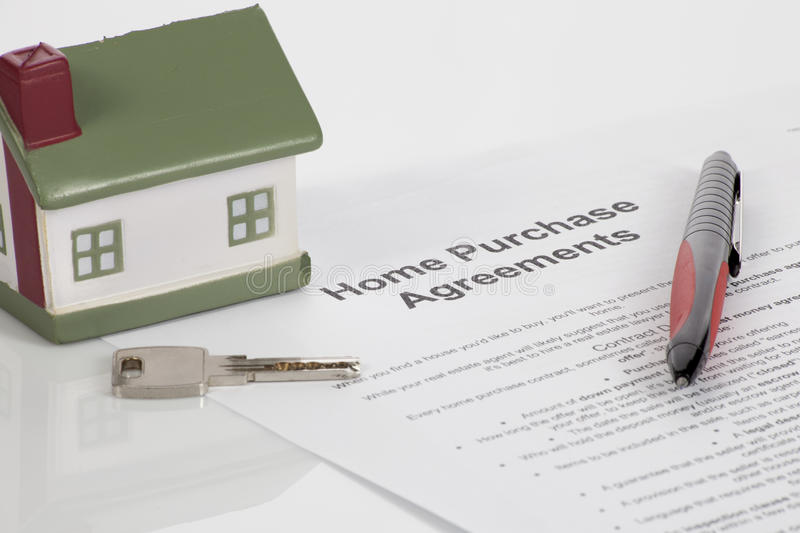 Home purchase agreements. Buy or not buy royalty free stock photography