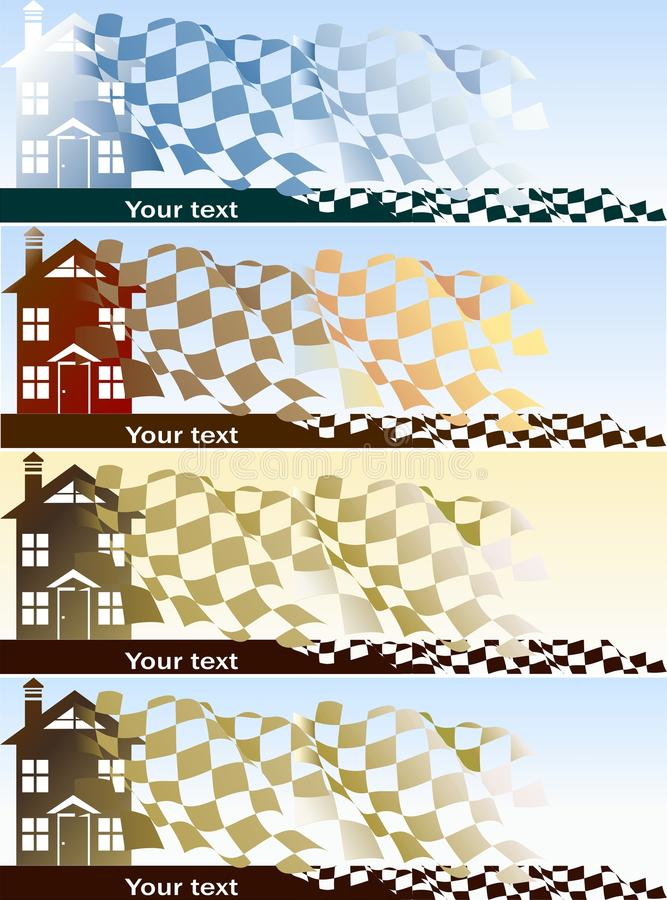 Download Home purchase banners set stock illustration. Illustration of investment - 27179634