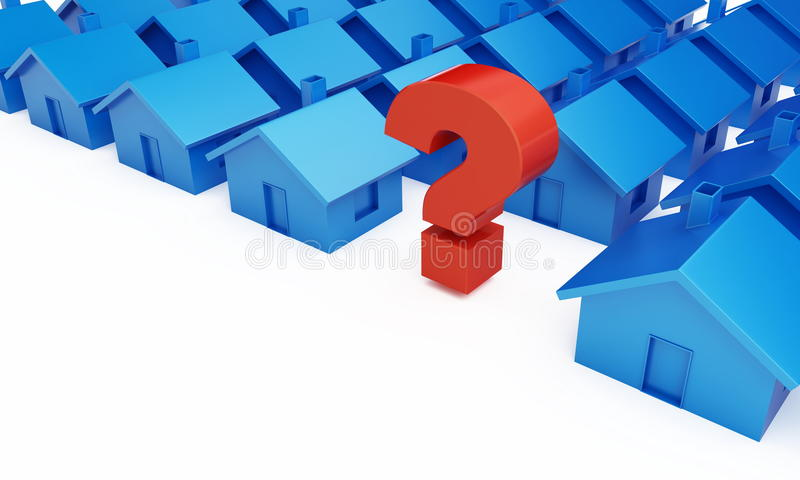 Home question mark. On a white background royalty free illustration