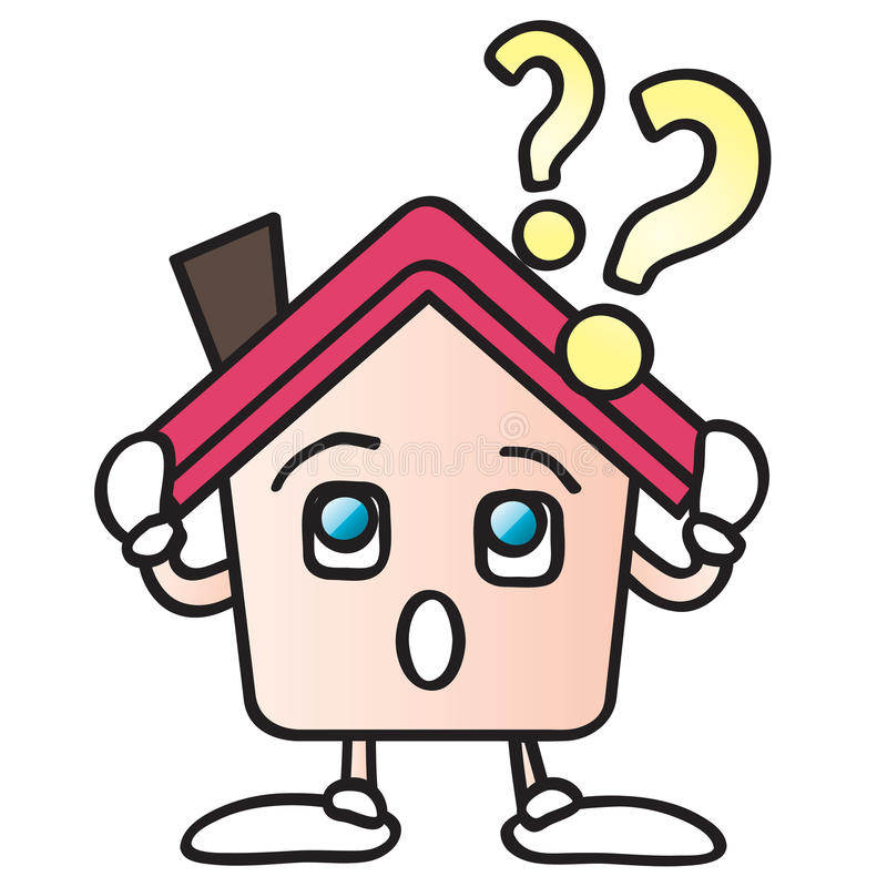 Download Home question mark cartoon stock vector. Image of mark - 10847740