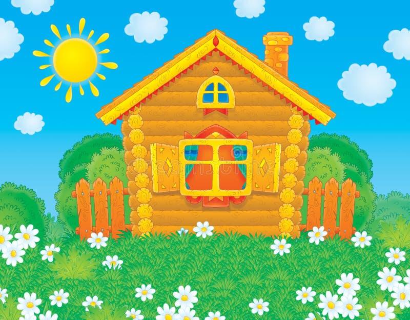 HOME rústica ilustração royalty free