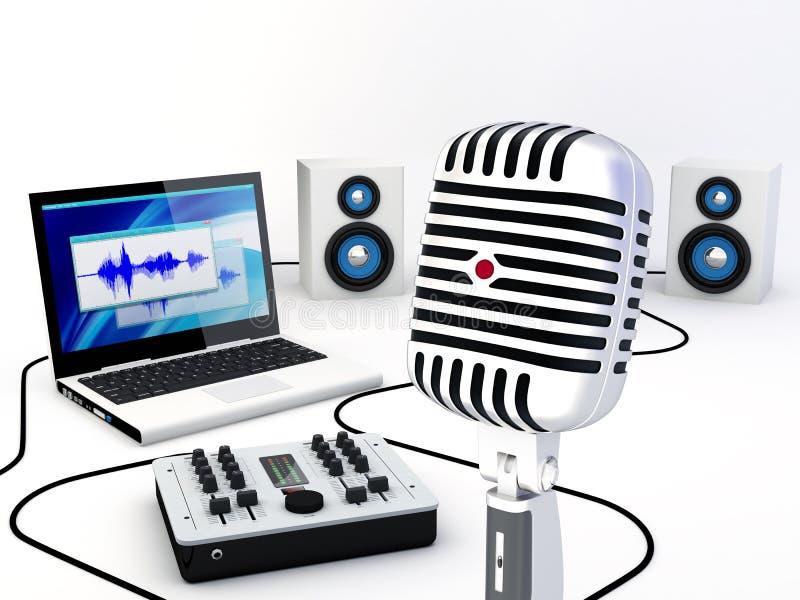 Download Home Recording Studio Equipment Stock Illustration - Image: 24347982