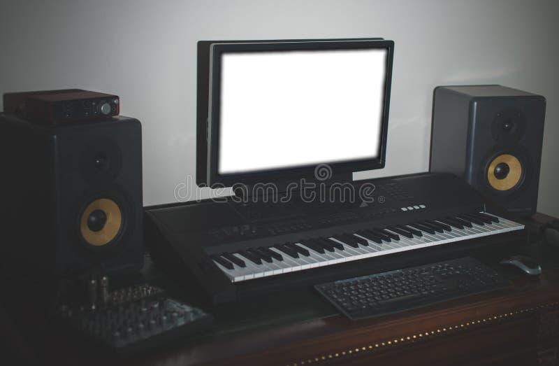 Home Recording Studio Equipment Stock Images - Download