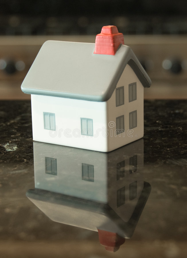 Home Reflecting on Granite Counter top stock photography