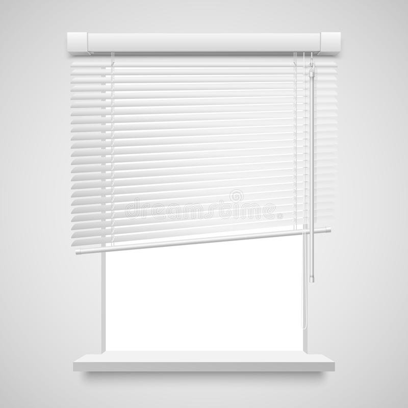 Home related blinds. Realistic home related blinds vector illustration isolated on white vector illustration