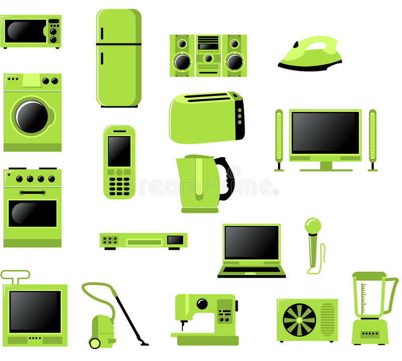 Home related electronics stock illustration