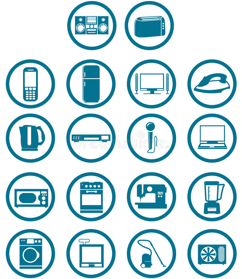 Home related electronics vector illustration