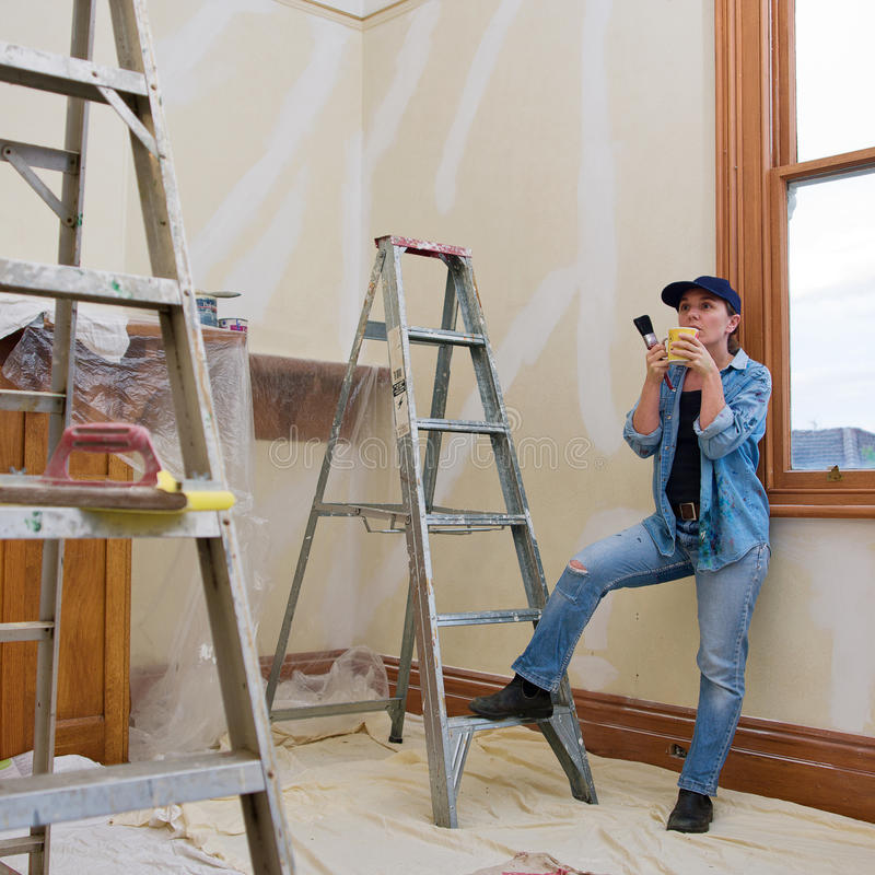 Download Home renovation stock photo. Image of female, decorate - 28187116