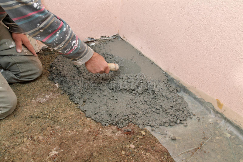Home Renovation, Concrete Royalty Free Stock Image